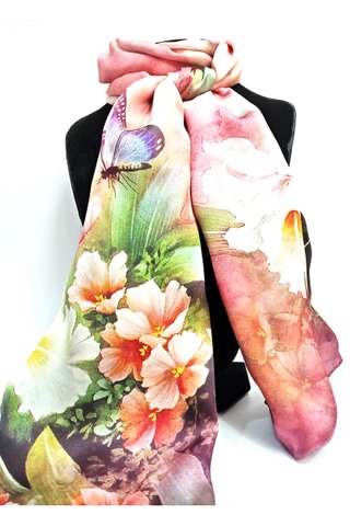 100% Silk Scarf Smooth and Soft Long Scarf For Female 1