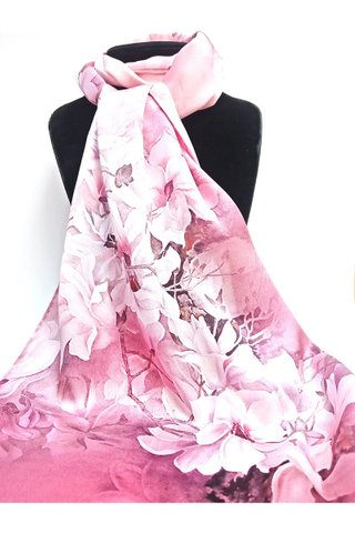 100% Silk Scarf Smooth and Soft Long Scarf For Female