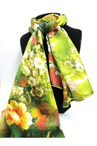 100% Silk Scarf Smooth and Soft Long Scarf For Female 11