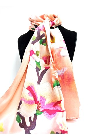 100% Silk Scarf Smooth and Soft Long Scarf For Female 12