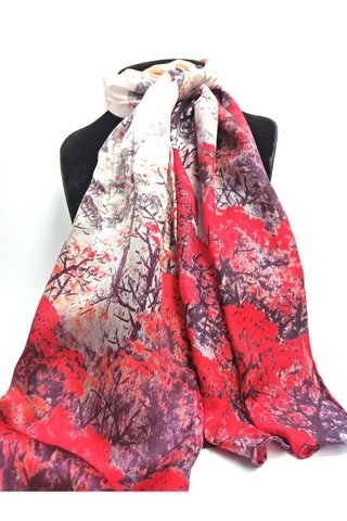 100% Silk Scarf Smooth and Soft Long Scarf For Female 14