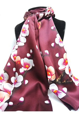 100% Silk Scarf Smooth and Soft Long Scarf For Female 15