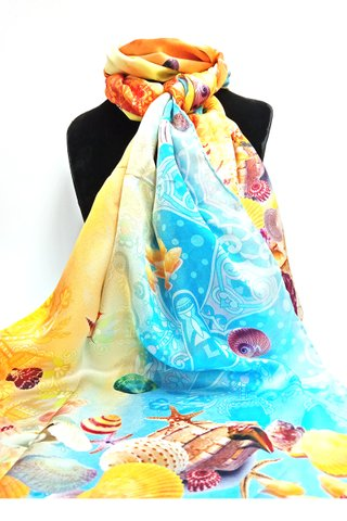 100% Silk Scarf Smooth and Soft Long Scarf For Female 20