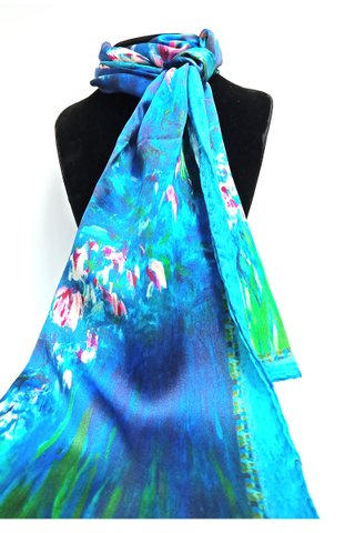100% Silk Scarf Smooth and Soft Long Scarf For Female 23