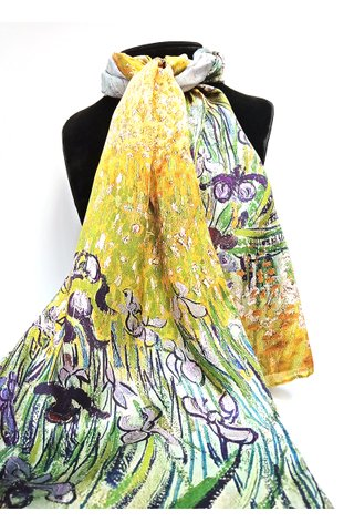 100% Silk Scarf Smooth and Soft Long Scarf For Female 24