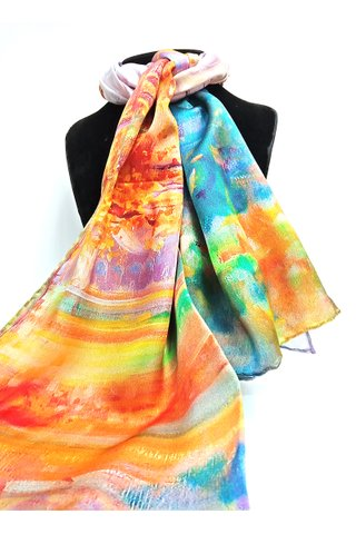 100% Silk Scarf Smooth and Soft Long Scarf For Female 27