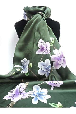 100% Silk Scarf Smooth and Soft Long Scarf For Female 3