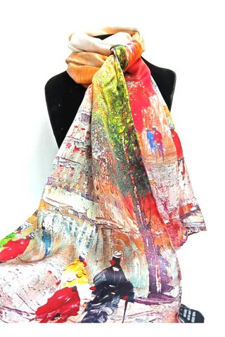 100% Silk Scarf Smooth and Soft Long Scarf For Female 31