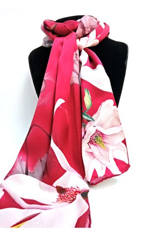 100% Silk Scarf Smooth and Soft Long Scarf For Female 5