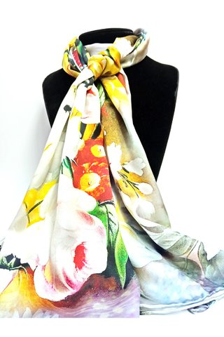 100% Silk Scarf Smooth and Soft Long Scarf For Female 7