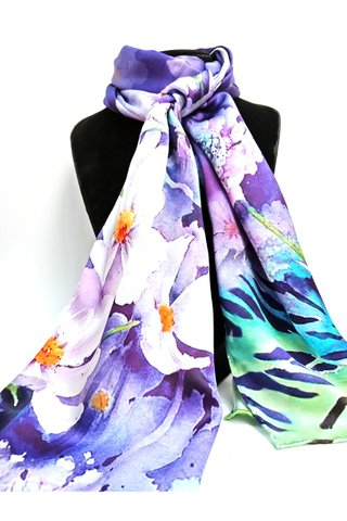100% Silk Scarf Smooth and Soft Long Scarf For Female 8