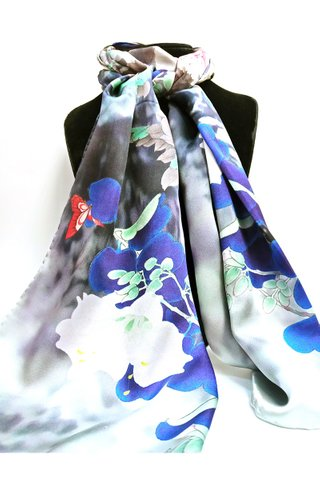 100% Silk Scarf Smooth and Soft Long Scarf For Female 9