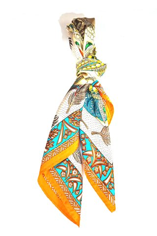 100% Silk Square Scarf Smooth and Soft Female 17