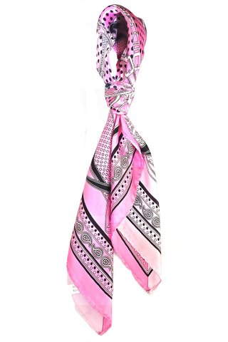 100% Silk Square Scarf Smooth and Soft Female 23