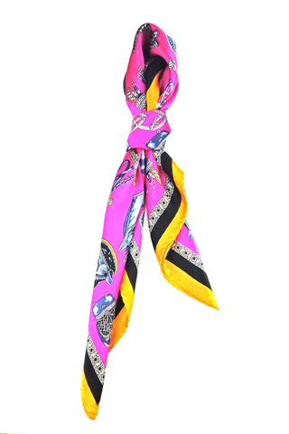 100% Silk Square Scarf Smooth and Soft Female 4