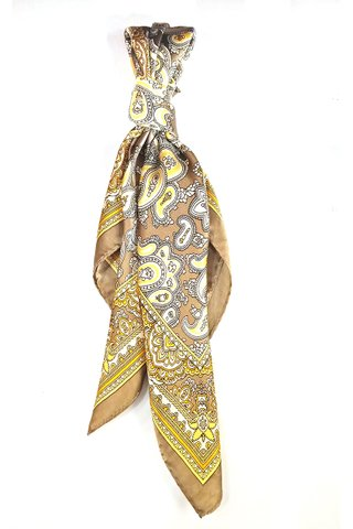 100% Silk Square Scarf Smooth and Soft Female 7